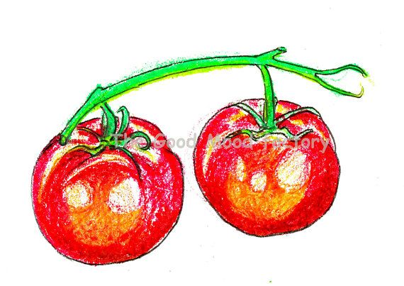 The Good Mood Factory_ The red tomatoes_ Art print Copy on paper of original