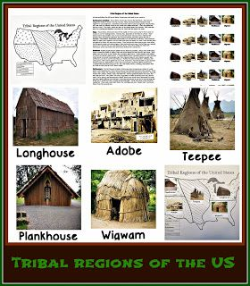American tribes that lived in the different regions of the United States