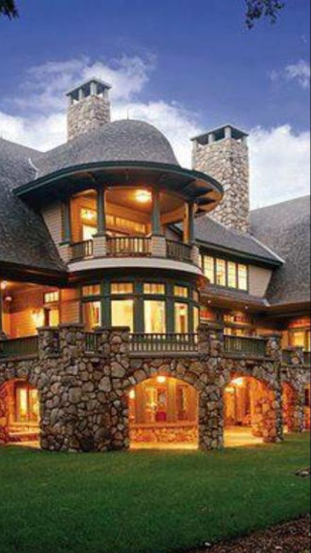Luxury mountain home beautiful homes pinterest the for Beautiful dream homes