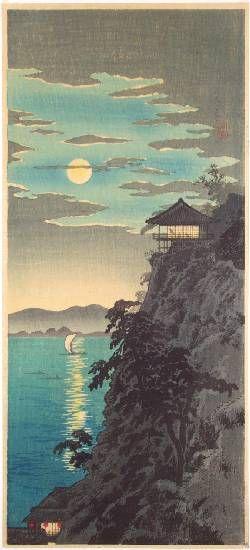"Shotei -- ""Moon at Ishiyama, Lake Biwa"""