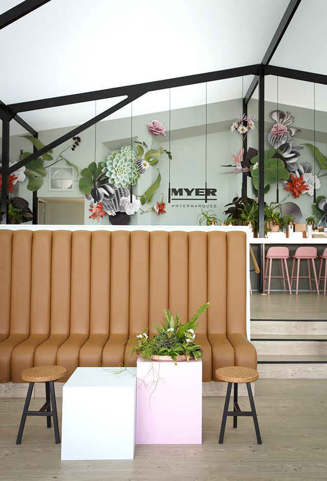 Gloss Creative | Myer 'Super Botanica' Marquee #glosscreative #myer #marquee #springracing #botanical #setdesign #installation #event