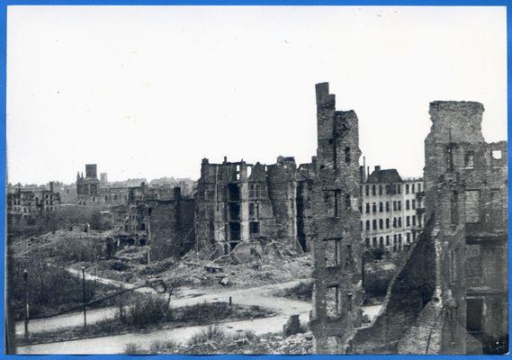 Königsberg, Kaiserstr. und Hoffmannstr. - Kriegsschäden