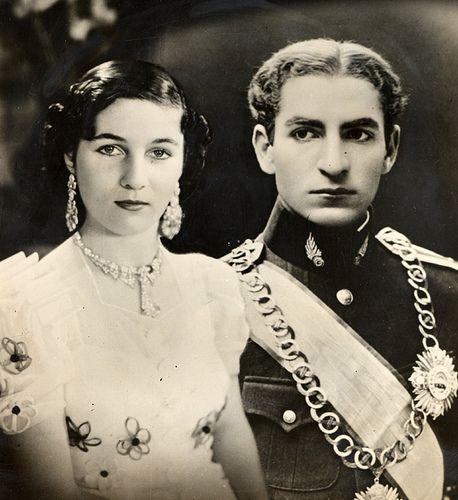 The Shah and his bride princess Fawzia of Egypt