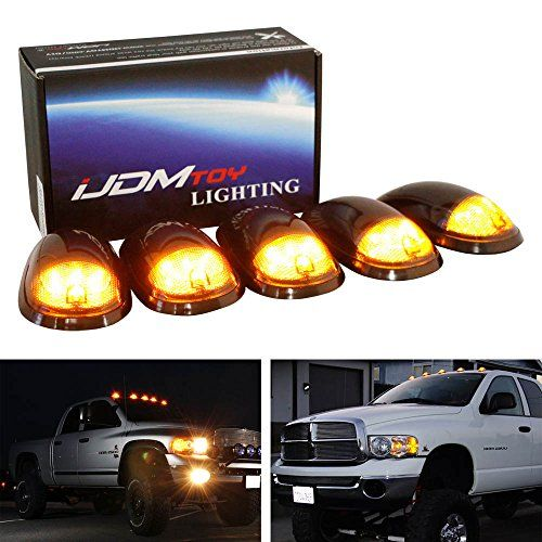 iJDMTOY® 5pc Smoked Lens Truck Cab Roof Lamps w/ Amber LED Lights For Dodge RAM 1500 2500 3500, Also Fit Ford F-Series, Chevrolet/GMC Trucks, etc - http://www.caraccessoriesonlinemarket.com/ijdmtoy-5pc-smoked-lens-truck-cab-roof-lamps-w-amber-led-lights-for-dodge-ram-1500-2500-3500-also-fit-ford-f-series-chevroletgmc-trucks-etc/  #1500, #2500, #3500, #Also, #Amber, #ChevroletGMC, #Dodge, #Ford, #FSeries, #IJDMTOY, #Lamps, #Lens, #Lights, #Roof, #Smoked, #Truck, #Trucks #Do