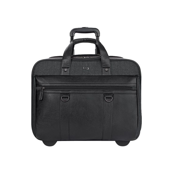 Solo - Executive Collection Rolling Laptop Case - Black, EXE935-4