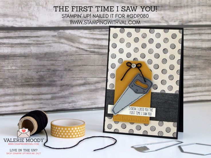 Stampin Up UK - Cards, Tutorials and Ideas from Stamping With Val - Shop Stampin Up UK Online Here 24/7 - Nailed It With Val Moody