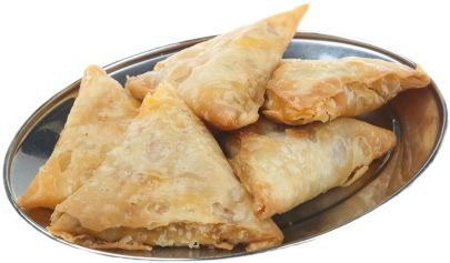 Vegetable Samosas.  These look absolutely authentic.  Our Somali and Sudanese women call them sambusas.