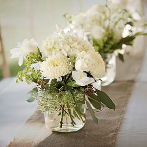 Wedding Table Centerpieces | Fragrant White Centerpiece | SouthernLiving.com
