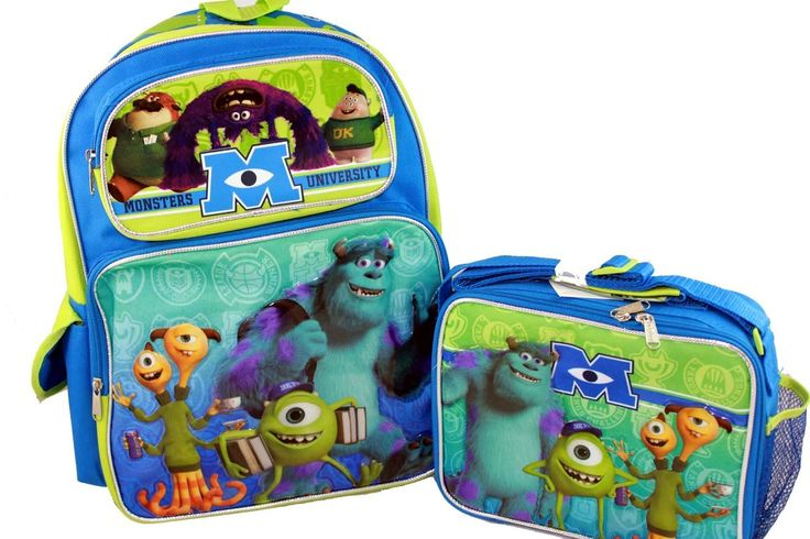 Monsters University Backpack and Lunch Bag complete set