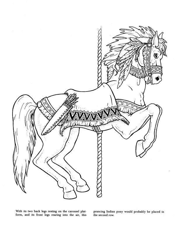 Carousel Animals Coloring Book Dover Books
