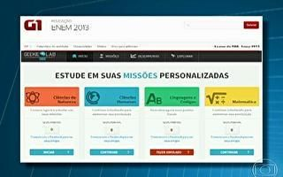 TV Globo - Bom Dia RJ: G1 oferece plataforma de estudo online gratuito para participantes do Enem