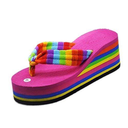 Oferta: 3.09€. Comprar Ofertas de Chanclas Mujeres,Xinan Sandalias del Deslizador Flip-Flops Playa Zapatos (CN 39, Rosado) barato. ¡Mira las ofertas!