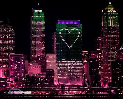 New York - Pink Lights