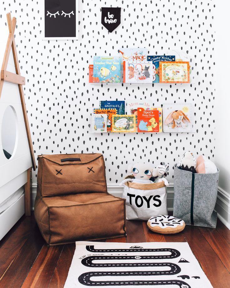 Bright, light Nursery Decor | reading space