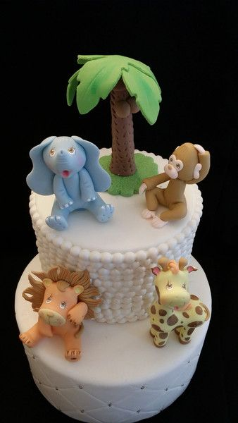 Cute Baby Animals, Jungle Animals Cake Toppers, Baby Shower Favor, Baby Shower Cake Topper, Safari, Jungle Party Decoration, Baby Animal Cake Decoration, Jungle safari - Cake Toppers Boutique  - 1