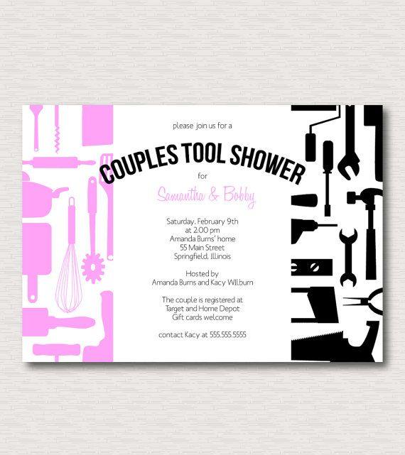 wedding shower idea: Couples Honey Do Tool Wedding Shower by JaneMcAdamsPress on Etsy, $15.00