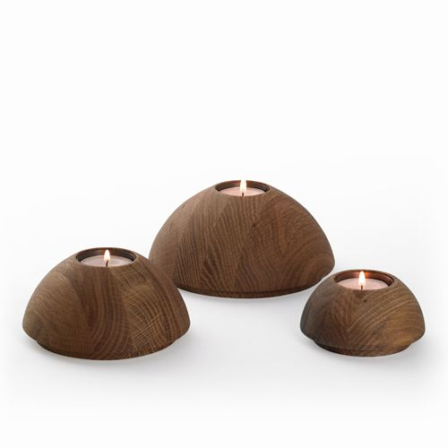 Dome Candle Holders | Wooden Candle Holders | Simply Tabletop UK