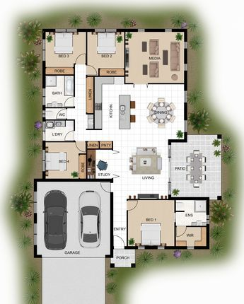 11 best maison images on Pinterest Floor plans, Home layouts and - Plan De Maison Originale