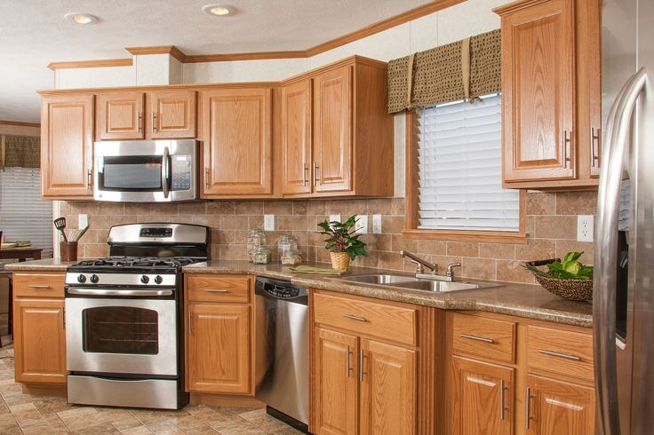 Kitchen on Pinterest  Oak cabinets, Stainless steel appliances and