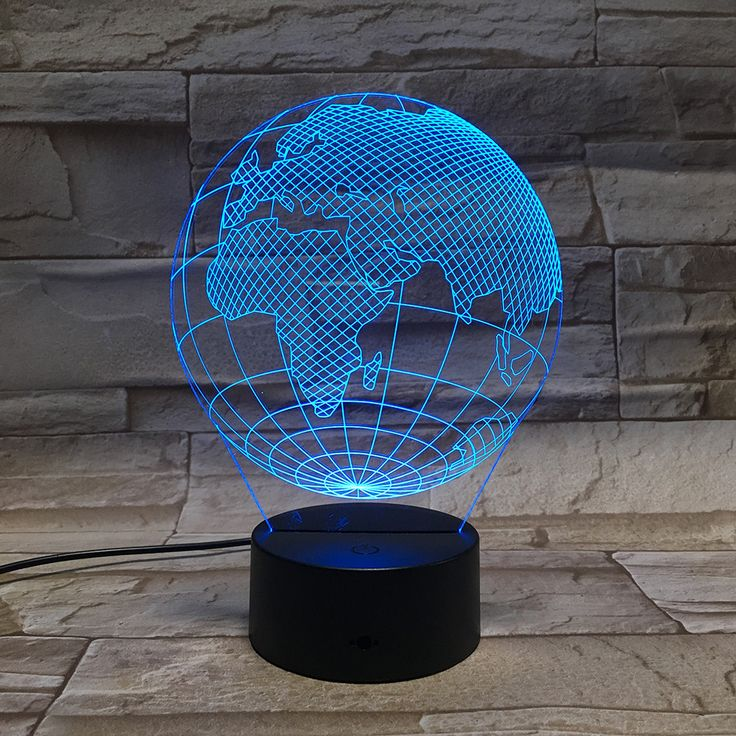 3D Globe Visual LED Lamp 7 Colors Acrylic Plate Optical Plug Night Light. Please use coupon code to get disscount LOVE50OFF LOVEDOCK50OFF.https://www.lovdock.com/p-l1701.html?aid=C6624