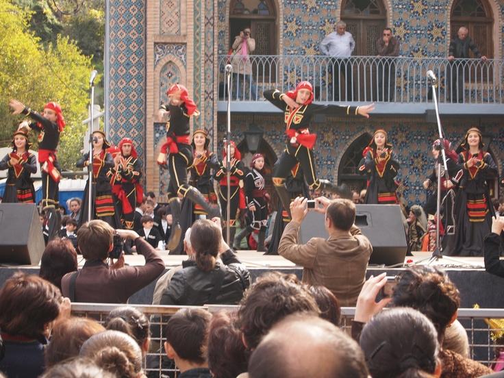 Tbilisi. Tbilisoba celebration, September. Georgian dances