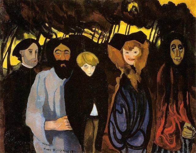 Witkiewicz, Stanislaw Ignacy (1885-1939) - 1920 Composition with Five Figures (National Museum, Warsaw, Poland) by RasMarley, via Flickr