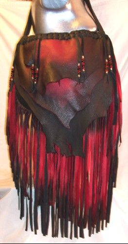This Etsty seller makes the most beautiful handmade custom leather bags I've ever seen!  This is one of my favorites!  I WANT ONE!!!  Custom Leather Designer Handbag Hobo Bag Red and Black by dleather, $199.95