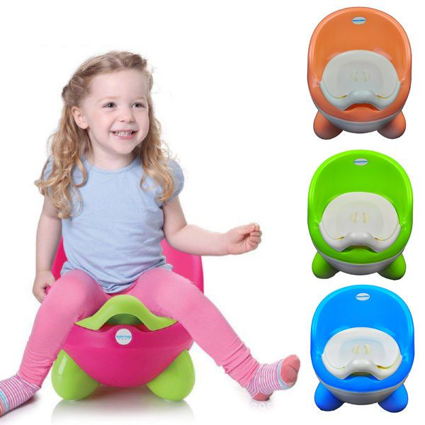Baby Training Potty Green Toddler Childrens Kids Potty Toilet Training Seat NEW