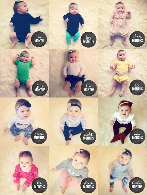Very cute 12 months of baby photography idea   Little Baby Garvin