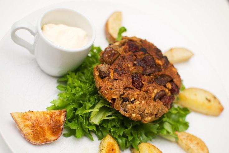 vegansk rødbeteburger fra resept oppskrift