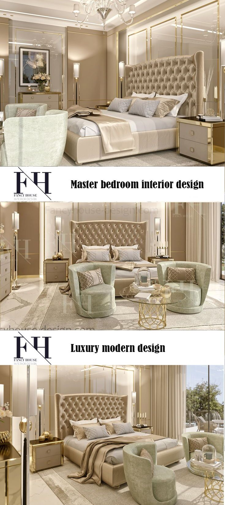Beautiful Interior Design For Luxury Houses In With A Beautiful Bed The Interior Decoration Luxury Bedroom Design Bedroom Design Gold Interior Design Bedroom