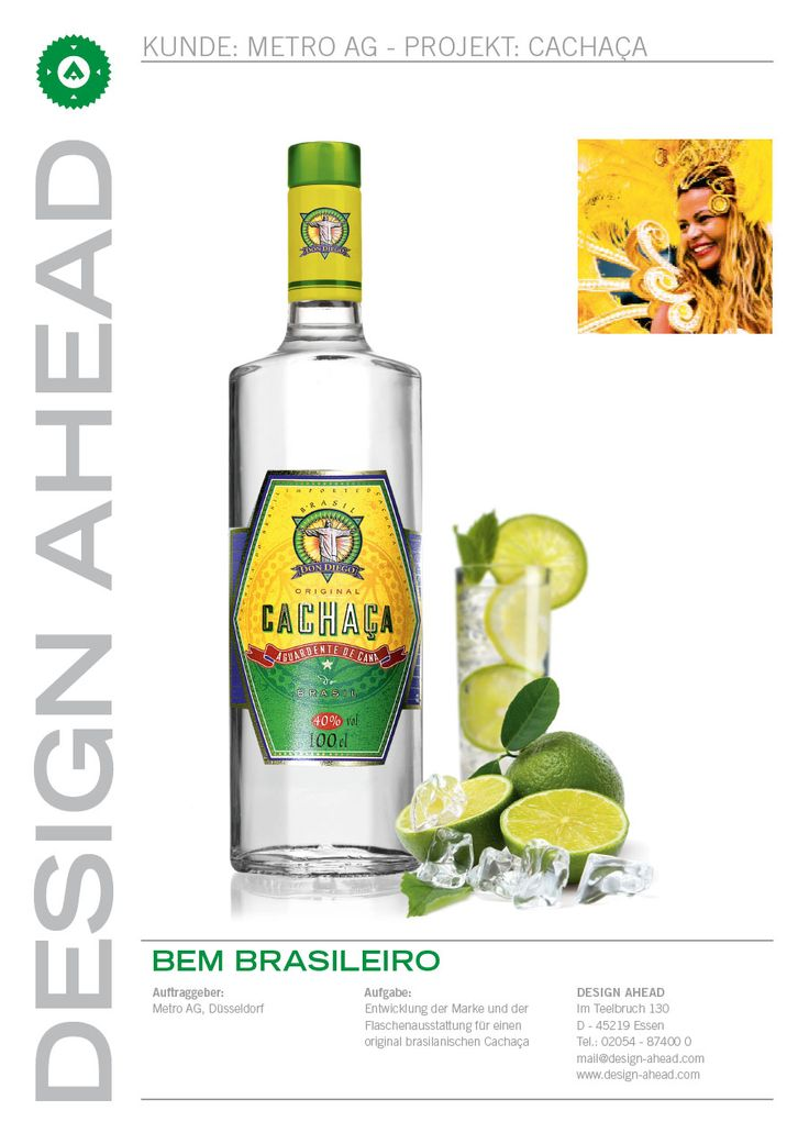 Packaging Design Don Diego Cachaca