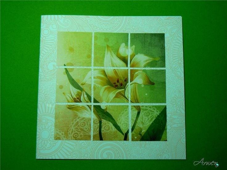 Inchies lily card. One of my first inchies effort.