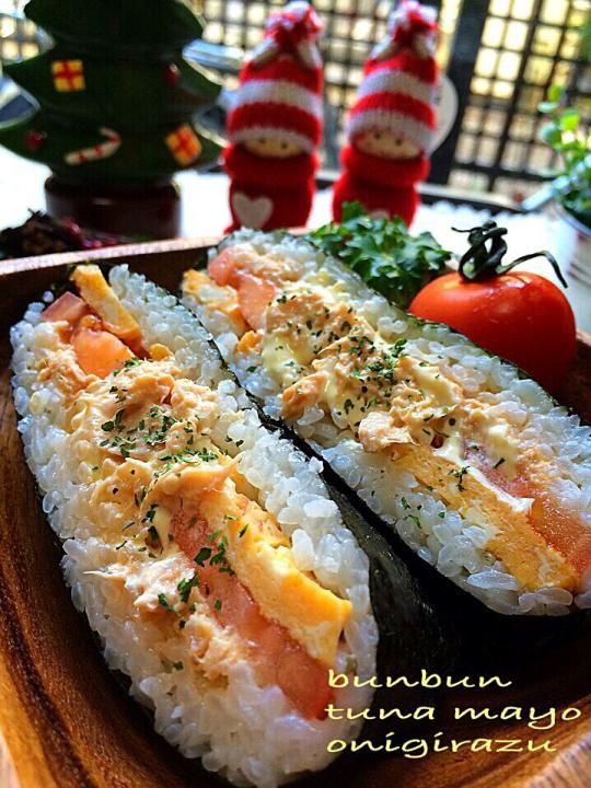 コンビニ風のツナマヨ♡で、おにぎらず♪ by hanatana at 2014-12-22 - 料理とレシピがひらめくお料理サイト | SnapDish [スナップディッシュ]