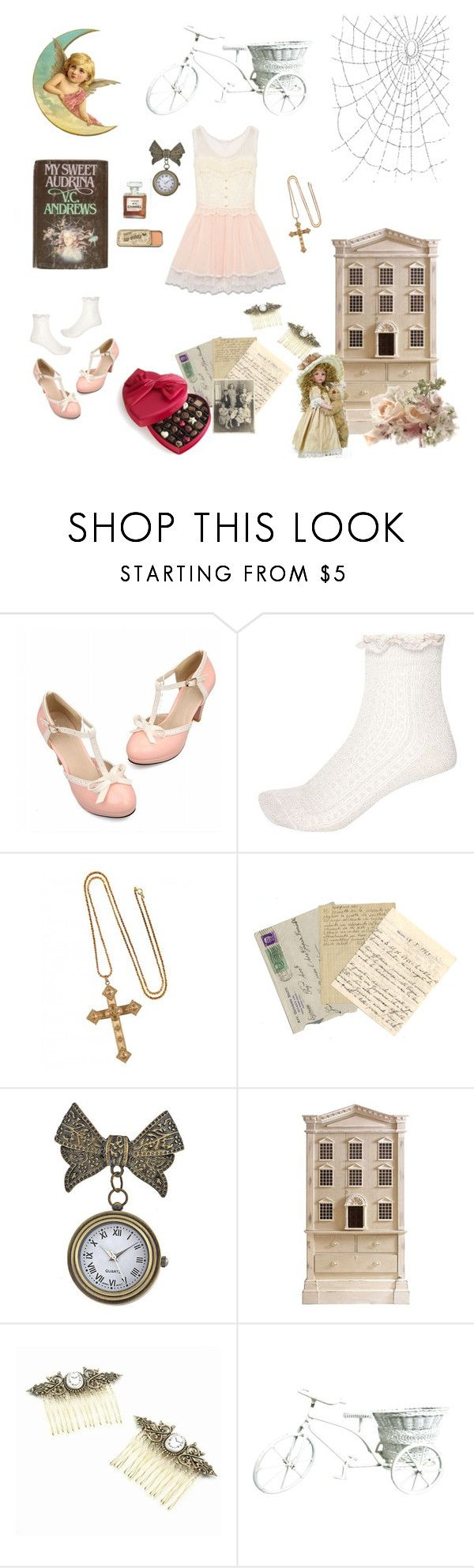 """""""My Sweet Audrina"""" by sweetcherrycola ❤ liked on Polyvore featuring River Island, Chanel, Andrew Martin and Dollhouse"""