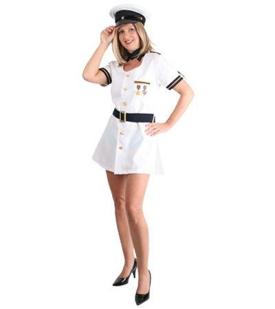 Sexy kapitein jurk voor dames  Sexy kapiteinsjurkje voor dames. Dit sexy witte kapiteinsjurkje is inclusief de blauwe riem en exclusief kapiteins hoed. Voor accessoires kijk bij ons in de winkel.  EUR 46.95  Meer informatie