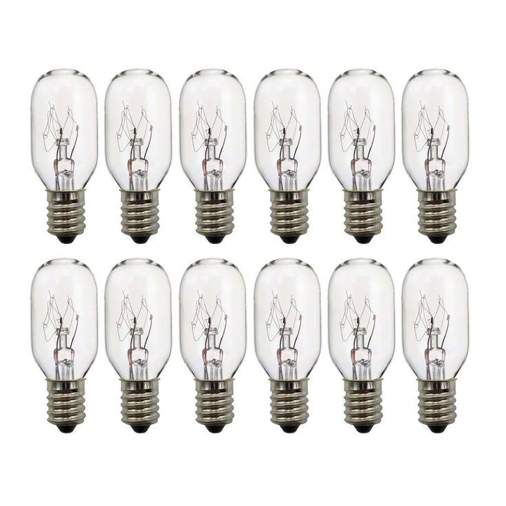 15 /25 Watt salt lamp bulbs, Himalayan Salt Lamp Replacement Bulbs 12 PackE14 Incandescent Light Bulbs Adjustable Brightness