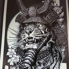 Resultado de imagen de samurai cat tattoo