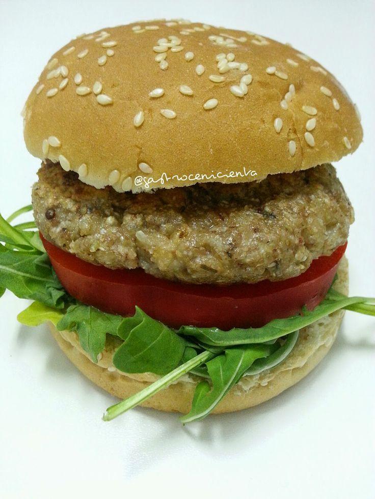 GastroCenicienta: Hamburguesa Vegana de Centeno y Trigo Sarraceno #vegan #vegana