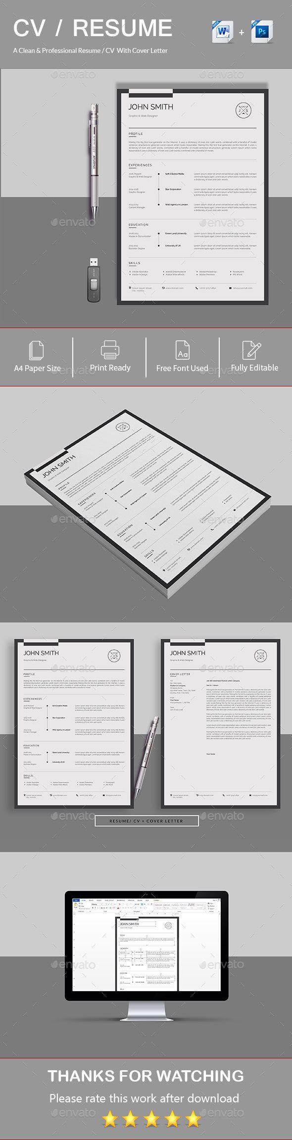 4343 best Resume Templates images on Pinterest   Resume, Curriculum ...