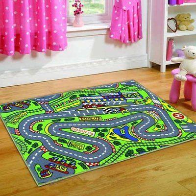 Rug Cleaner Childrens Formula One Playmat Roadmap Cars Racing Track X Cm Kiddy Rug