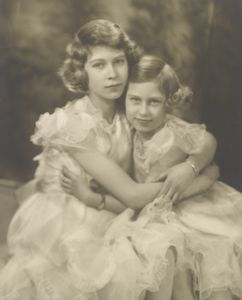 Princesses Elizabeth and Margaret--1939--Right before the outbreak of World War II.