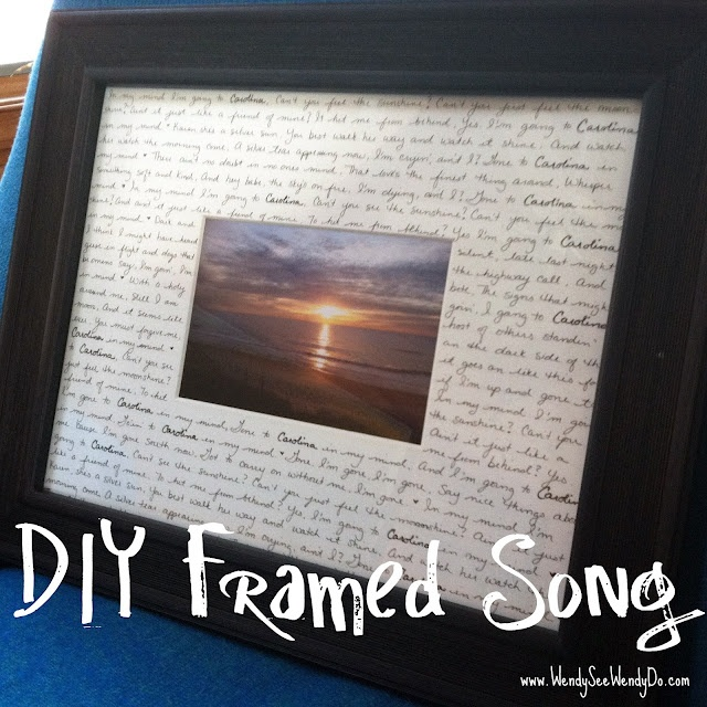 Getting Crafty with a Framed Song
