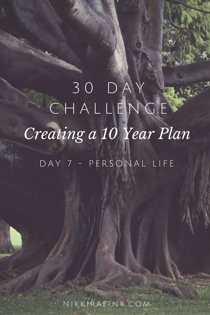 39 Day Challenge: Creating a 10 Year Plan, Day 7 Personal Life