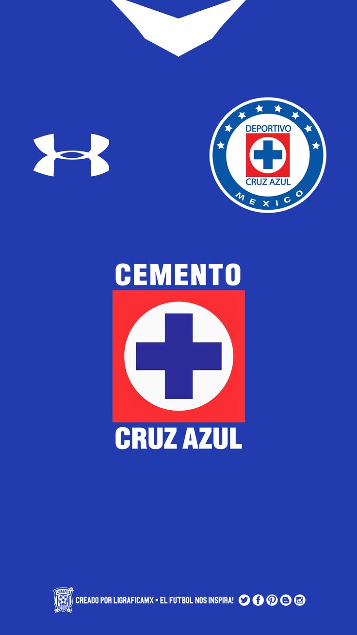 Wallpaper Uniforme #LigraficaMX #CruzAzul | Cruz Azul | Pinterest