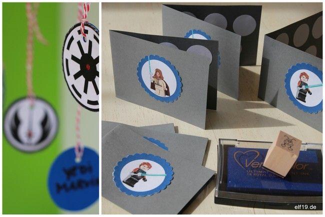 Medallien und Stempelheftchen für unsere Star Wars Party