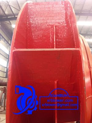 Xianrun Blower: 4.5 Sticking wear resistant ceramic chips to blade...