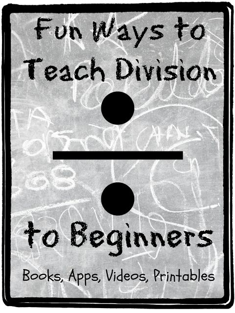 Help your kids jump into division without fear with these fun tips from Teach Beside Me.