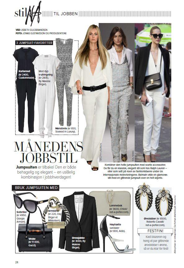 Soaked in Luxury jumpsuit in norwegian magazine Henne