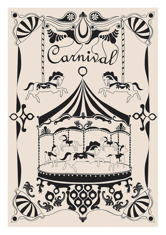 Carnival - Art work exploring motif designs regularly continued through fairground rides: